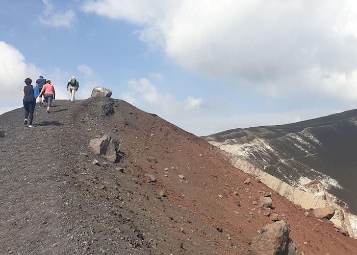 Sandboarding in Nicaragua cerro negro